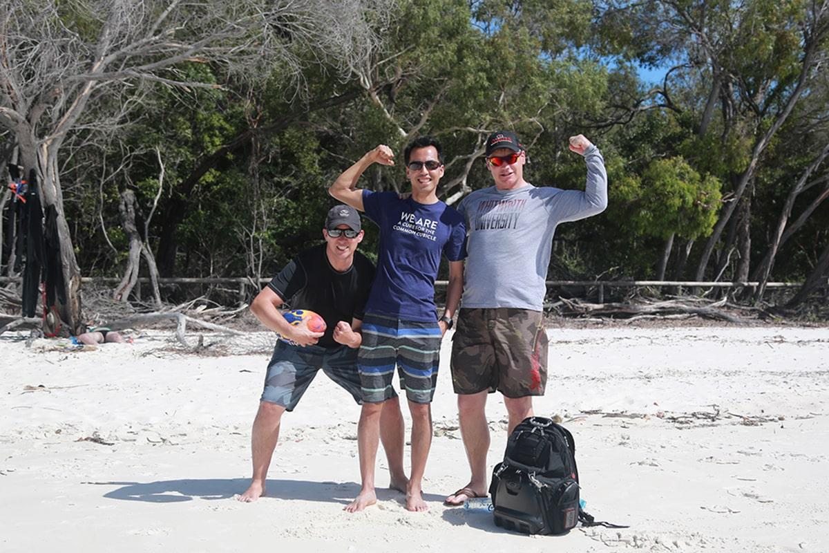 Ryder Erickson Beach with Friends