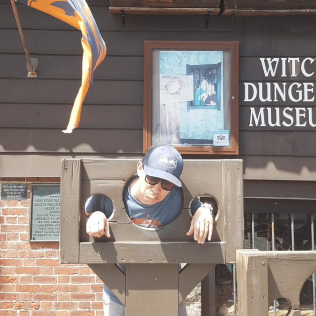 Ryder Erickson at Witch Dungeon Museum