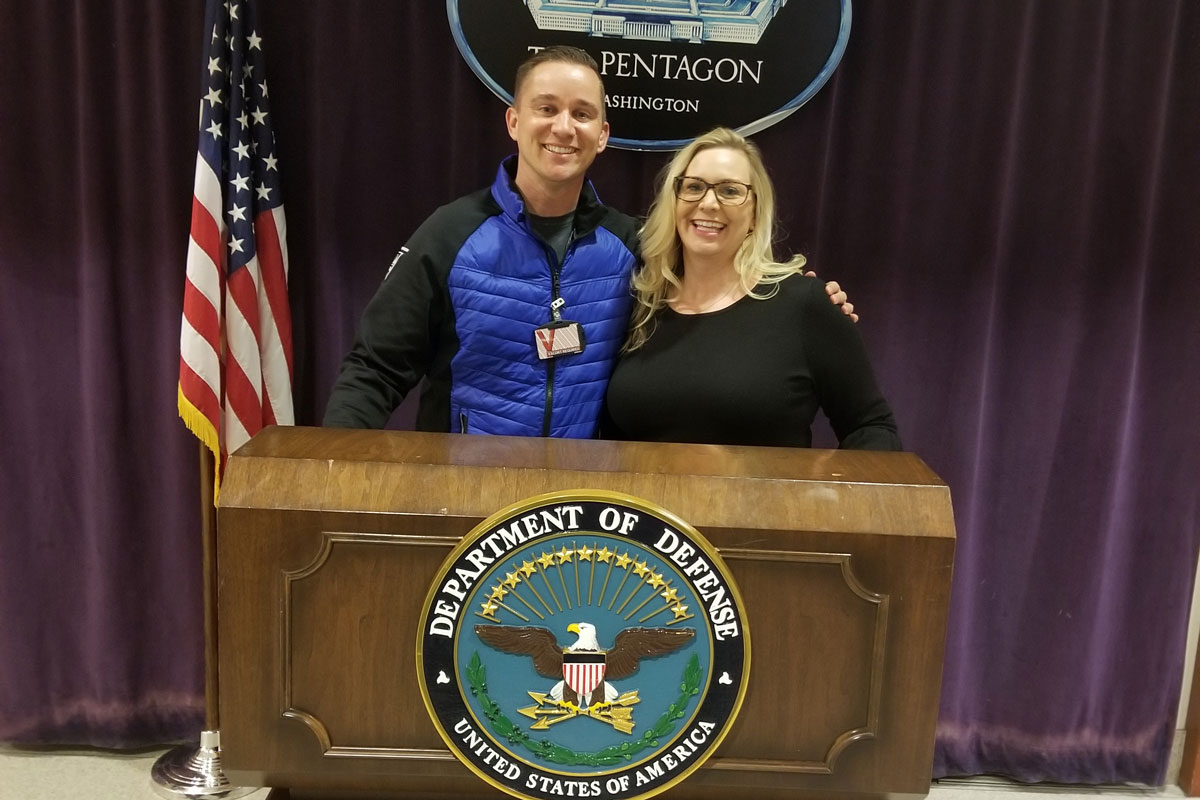 Ryder and Nicole Erickson at the pentagon